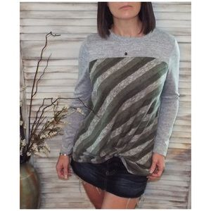 Tops - ⭐️Striped Contrast Knot Top Green